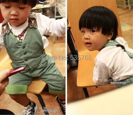 podzimní vývoz bavlna chlapci baby bib kalhoty batole Style - Oblečení pro miminka