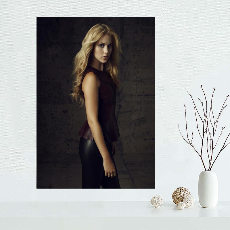 2018 New arrival Custom Claire Holt Canvas Painting Poster Home Decor Cloth Fabric Wall Art Poster for Living Room
