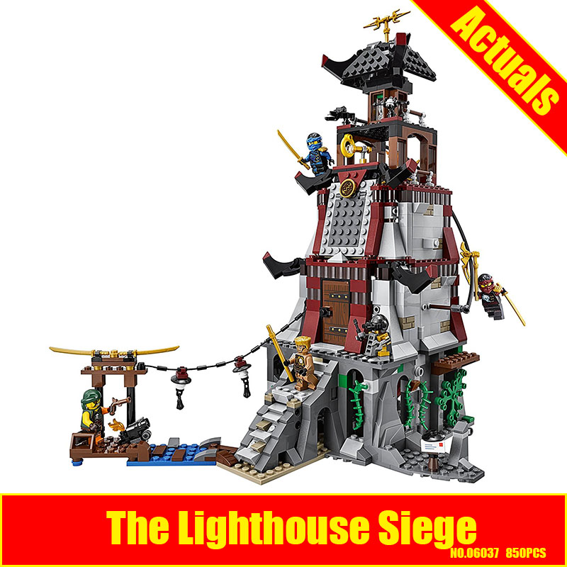 Lepin 06037 850pcs Ninja Lighthouse Siege Building Block Compatible 70594 Brick Toy lepin 06037 compatible lepin ninjagoes minifigures the lighthouse siege 70594 building bricks ninja figure toys for children