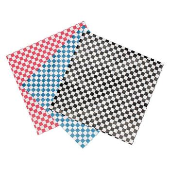 Greaseproof Checkered Wax Paper Baking Oil Paper Sandwich Packaging Food Wrappers Printed Wax Paper lin4125