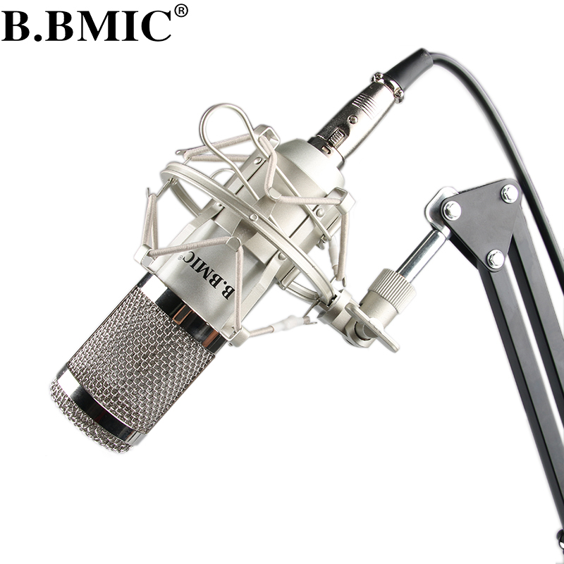 Microphone Professional BM800 Condenser KTV Microphone Pro Audio Studio Vocal Recording Mic KTV Karaoke Metal Shock