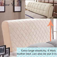 Janeyu Leather Bed Quilted Bed Head Cover Protective Cover Washable Dust Cover 1.5m1.8m 2.0m 2.1m Headboard Cover