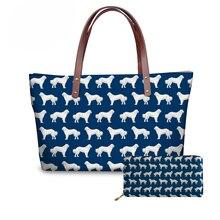 NOISYDESIGNS Womens Bags Purses and Handbags Great Pyrenees Printing Top-handle for Ladies Beach Bag Bolsa Feminina 2018