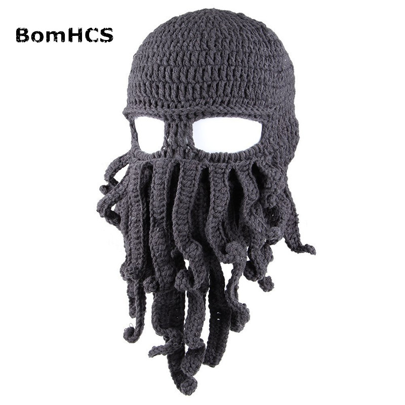 BomHCS Wholesale Funny Tentacle Octopus Cthulhu Knit Beanie Hat Cap Wind Mask