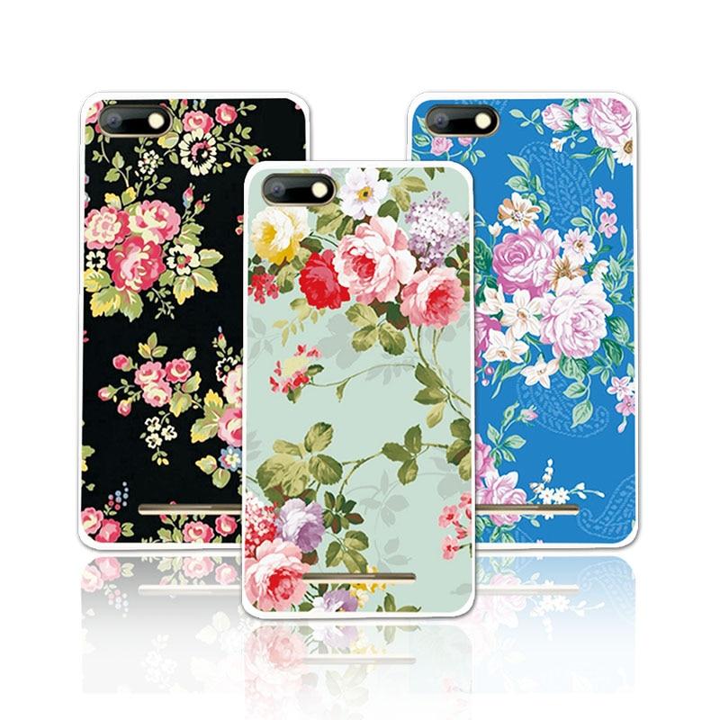 BQ Huelga de Lujo Floral Pintado TPU Soft Phone Cases Bq bqs-5020 huelga portada