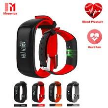 P1 Smartband Relojes Monitor de Presión Arterial Monitor de Ritmo Cardíaco de Bluetooth Pulsera Pulsera Inteligente Usable OLED IP67 A Prueba de agua