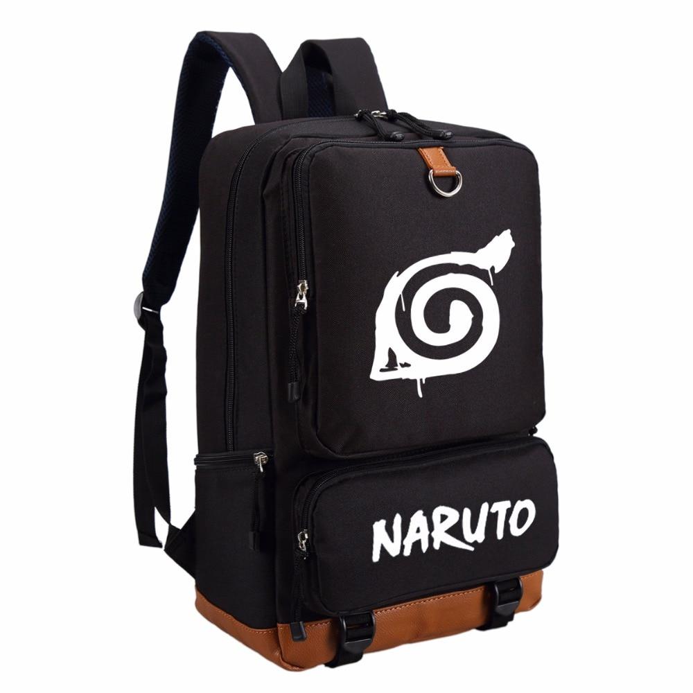 Wishot Naruto Write Round Eyes Backpack Fashion Casual