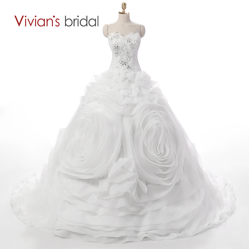 ▽Vivian\'s Bridal New Arrival Beaded Crystal Ball Gown Wedding Dress ...