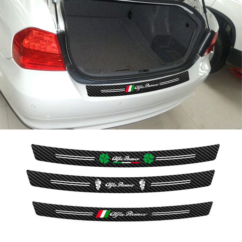 5D Carbon Fiber Trunk Bumper Guard Trim Decal Sticker for Mini Cooper R56 R57