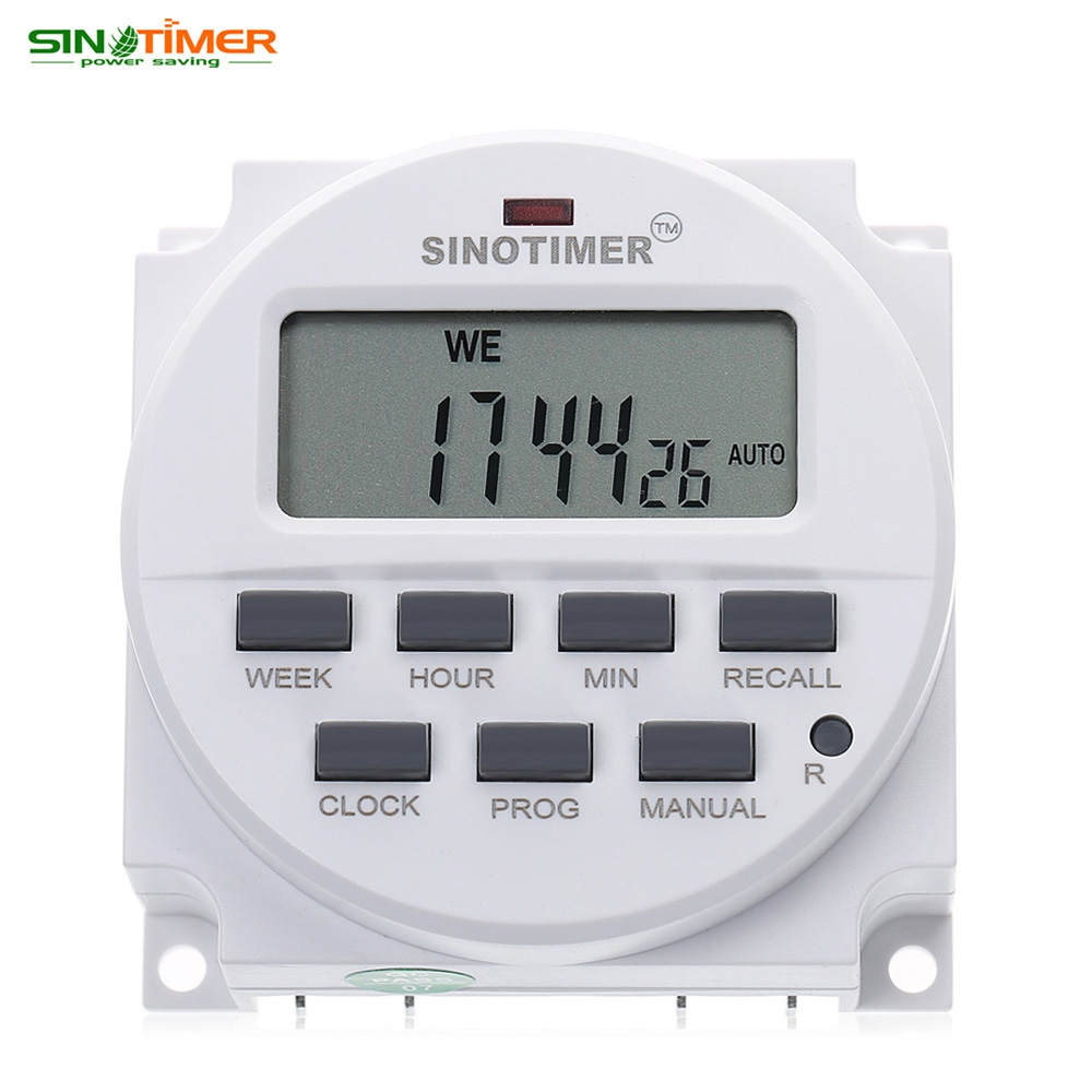 SINOTIMER 12V Control Power Timer DC Timer Switch Control 7 Days Programmable Time Relay Electronic Instrument sinotimer 12v ac dc control power timer 50 hz 24 hours timer switch control high quality time relay electronic instrument