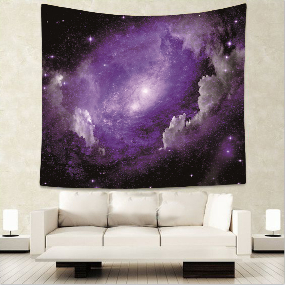Wonderful starry sky print galaxy Indian tapestry hippie mandala wall hanging Bohemian bedspread dorm decor wall carpet 51x60 quot in Tapestry from Home amp Garden