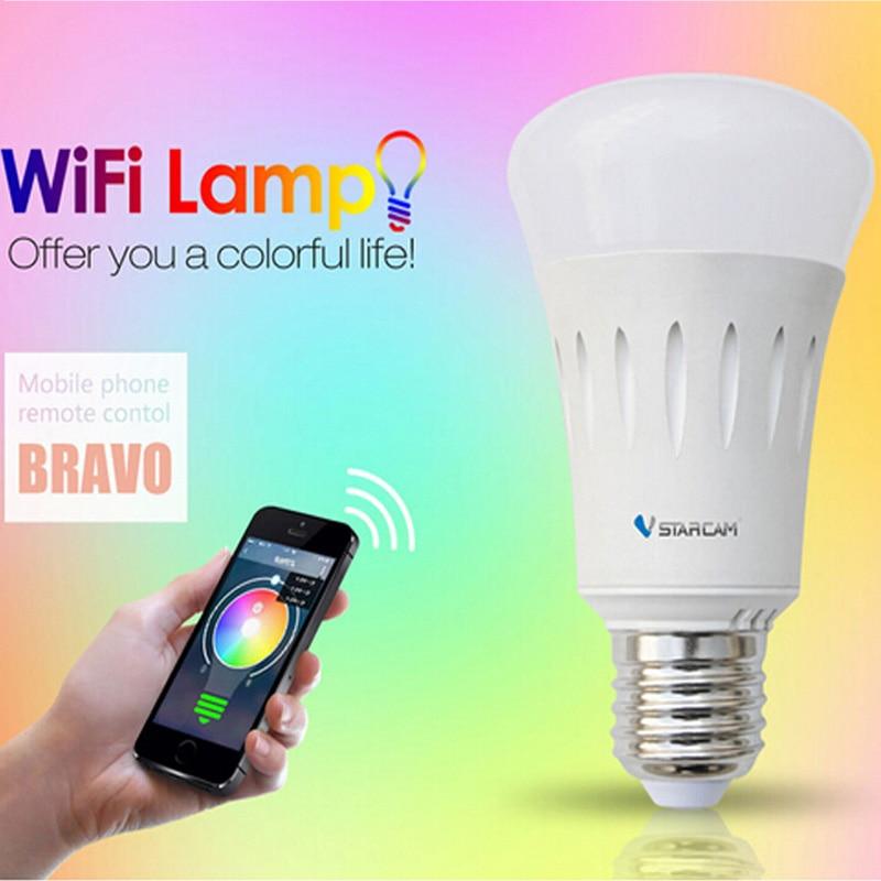 VStarcam WF820 Smart WiFi Lamp Mini Light Smart Phone Control WIFI connect Lamp Bulb E27 RGB Color Light Support iPhone Android гаджет vstarcam wf820