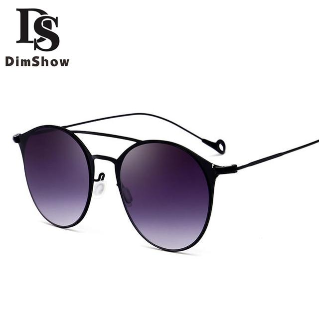 Dimshow new mode cat eye lunettes de soleil femmes ou hommes italie marque  Designer Évider Cadre a9518ede8fba