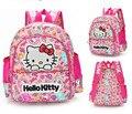 Bonito Olá Kitty Mochila Com Arco E Orelhas Para Meninas Saco de Sacos de Nylon Mochila Escolar do jardim de Infância Para Crianças Asseclas