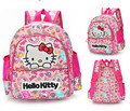 Cute Hello Kitty Backpack With Bow And Ears For Girls Kindergarten Nylon School Backpack Bags For Kids Minions Bag