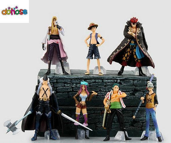 Anime One Piece Rufy Zoro Trafalgar Law Eustass Kid Hawkins X Drake Jewelry  Bonney Action Figure