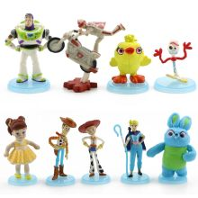 9pcs/set Disney Toy Story 4 toys Pixar Woody Buzz Lightyear Forky Jessie Action figure story Model Toys For Children Gift
