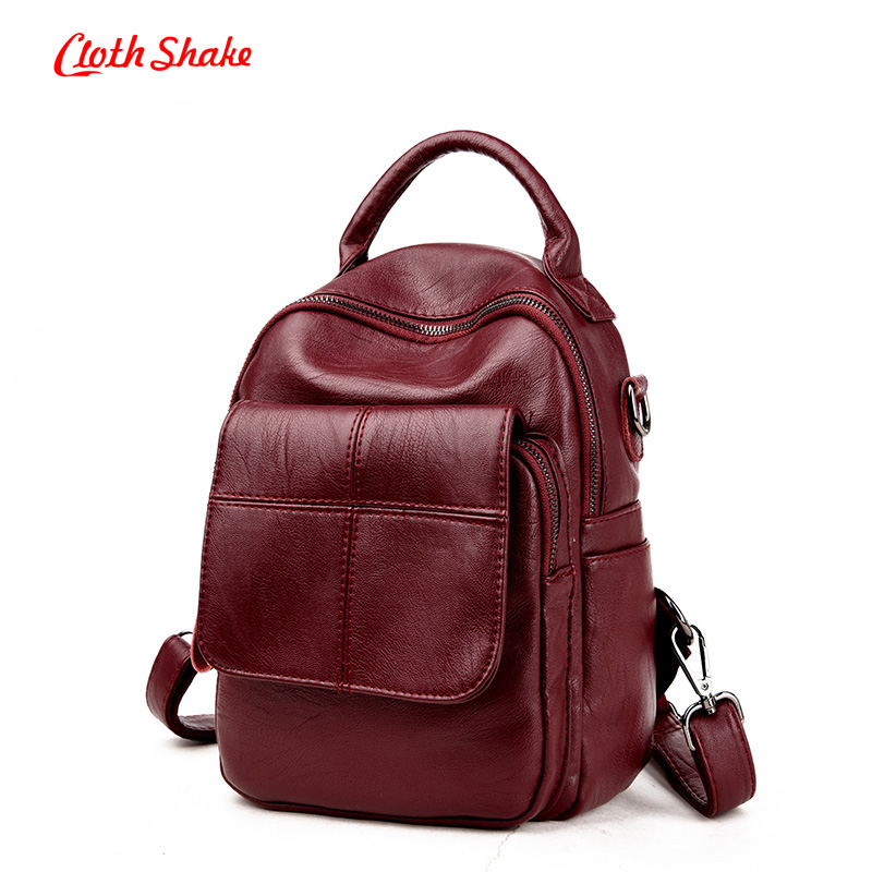 Cloth Shake Summer New Hot European style Women Backpack 2016 Famous Bags Women's PU Leather Rucksack shoulder Bag Backpacks fashion style women crocodile pattern doctor women backpack famous bags women s pu leather rucksack bag z762