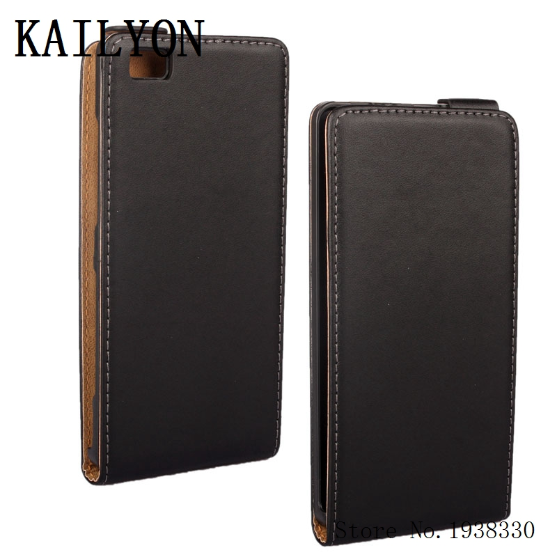 KAILYON Phone Cases For Huawei P8 Lite Flip Case Luxury Genuine Leather For Huawei P8 Lite Flip Cover Case High Quality Cell Pho ...