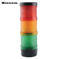 Zusen new TB70 3T D 12v 24v 220v the combination of constant and strobe led 70mm signal tower light of three layer