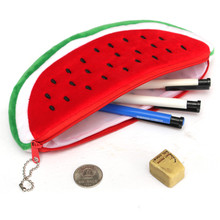 Red Practical Case Volume Watermelon Kids Pen Pencil Case Gift Cosmetics Purse Wallet Holder Pouch For Student Officer