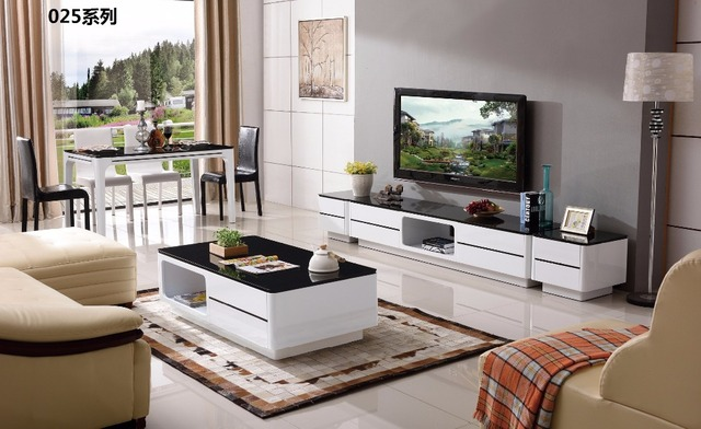 CJTV025 Minimalist Modern living room furniture dinning table chest of  drawers TV stand cabinet coffee tea table furniture set-in Living Room Sets  ...