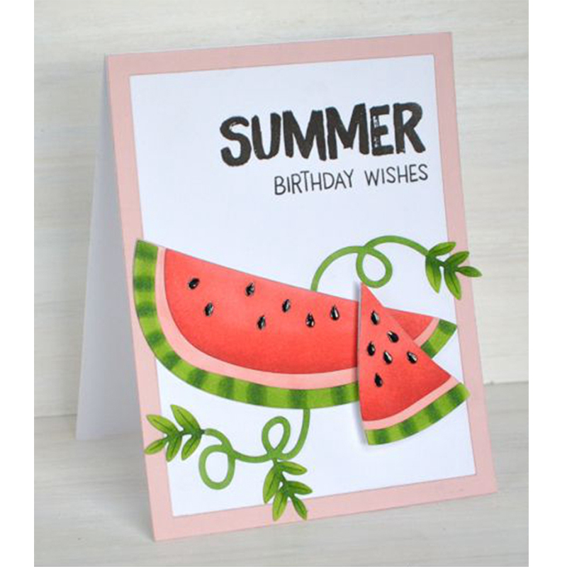 Fruit Watermelon Metal Cutting Dies Stencils For DIY Scrapbooking Decorative Embossing Suit Paper Cards Die Cutting Template