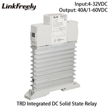 TRD060D40M1 5pcs Single Phase DC Relay Solid State 5V 12V 24V 32V DC In 40A DC control DC Heat Sink SSR Relay Din Rail Board цена 2017