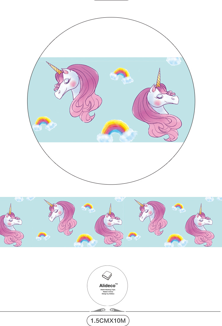 Tapes, Adhesives & Fasteners Office & School Supplies Earnest Diy Paper Japanese Washi Masking Tapes Cute Horse Unicorn Decoration Adhesive Tapes Scrapbooking 15mm*10m Alideco