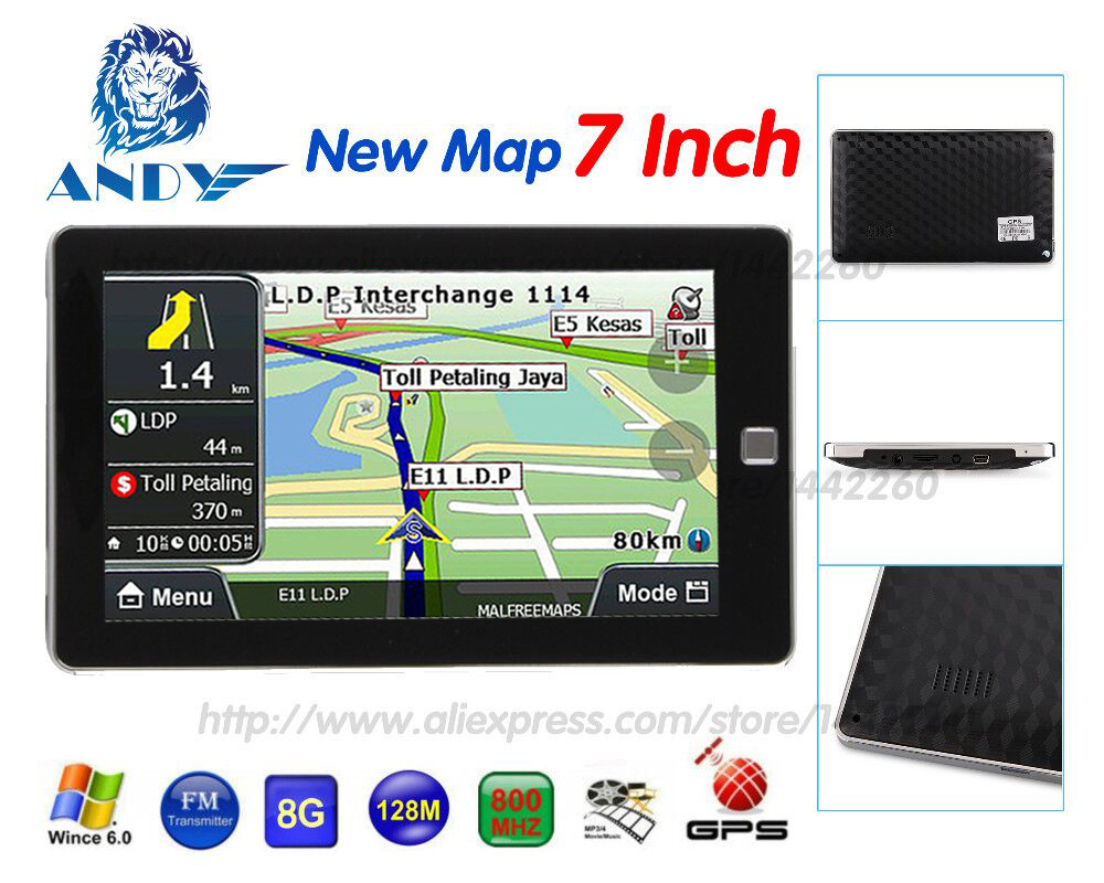 Oriana car gps navigation 5 inch touchscreen navigator 128mb 8gb sat nav mp3 fm europe map