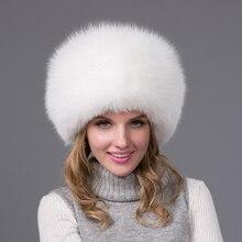 Зима сгущает полная кожа задняя часть лиса меховая шапка шляпа женщина мужской норки ухо защитный колпачок женщины зима теплая вводная часть HJL-02L