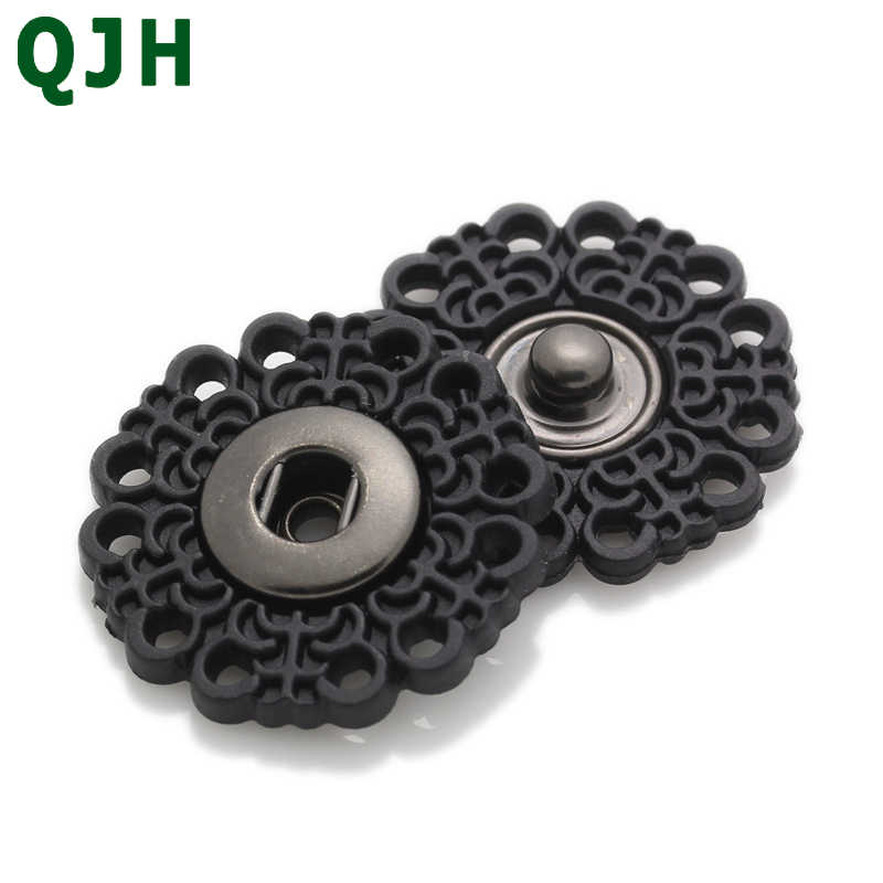 Brand Snaps Buttons Brass Press Button Fasteners Black White Covered button DIY Sew Clothing Accessories BP0026
