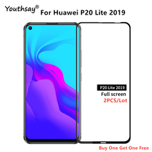 For Huawei P20 Lite 2019 Glass Screen Protector Full Glue Cover Tempered Glass for Huawei P20 Lite Glass for P20 Lite 2019 Film hat prince hd clear full screen film for huawei p20 lite