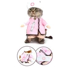 NACOCO Dog Cat Nurse Costume Pet Clothing Halloween Jeans Outfit Apparel