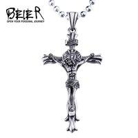 NRI Jesus Piece Cross Pendant Necklace Chain For Men Gift Vintage Christian Jewelry BP8 188