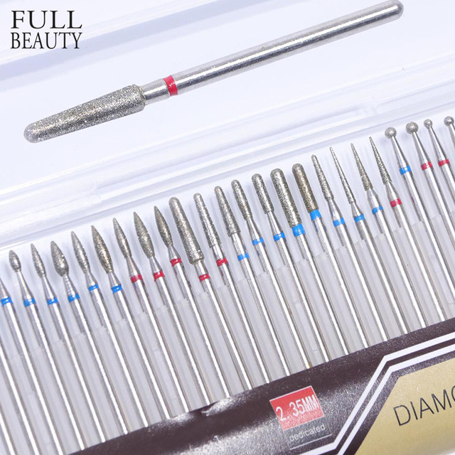 30pcs Steel 30 Type Diamond Milling Drill Electric Nail Files Carbide Polisher Cutter for Manicure Nail Tools Full Beauty CH051