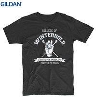 GILDAN Men Brand Printed 100 Cotton Tshirt College Of Winterhold Mens Womens Design T Shirt Custom