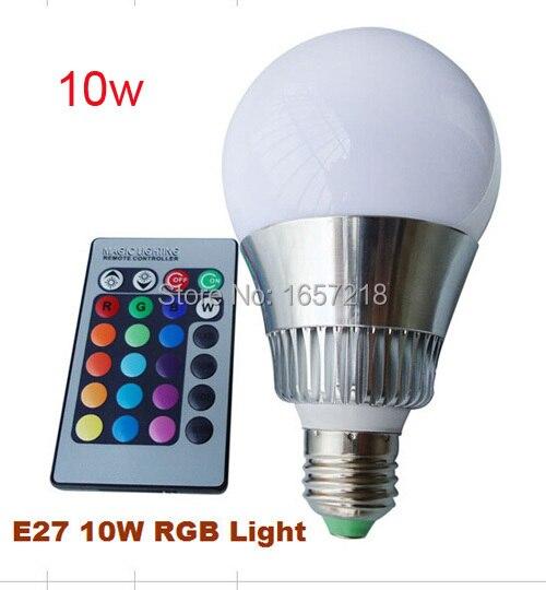 E27 3 w, 10 w led rgb lamp lamp spotlight kleurrijke verlichting 16 ...