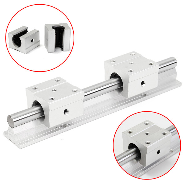 3Pcs SBR12-200mm Linear Rail Shaft Rod with 2Pcs SBR12UU Blocks Bearing Slide Linear Motion Aparts