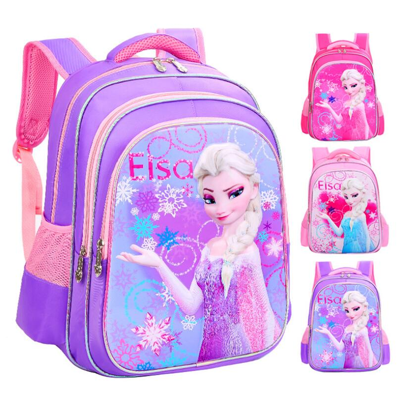 2018 Новые девушки школьные сумки Принцесса Эльза ранцы дети рюкзак дети мультфильм основной Bookbag дети Mochila Infantil