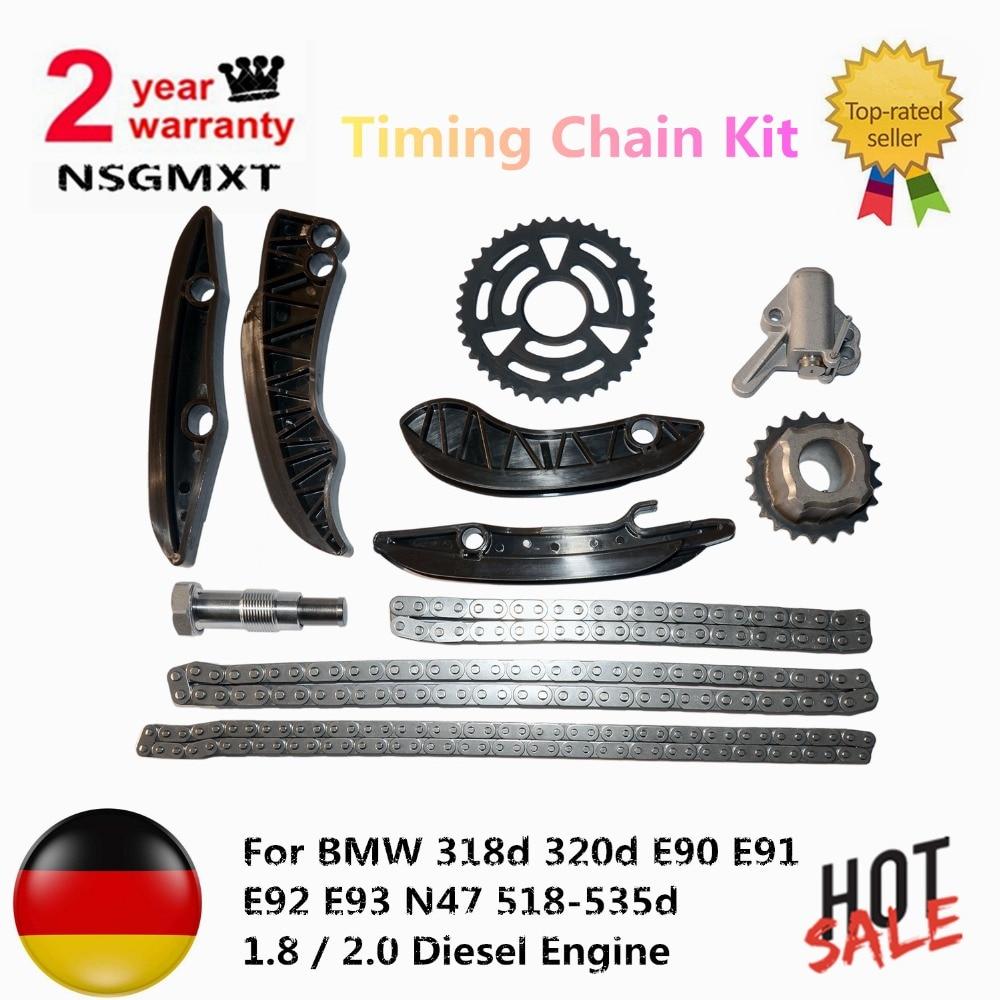 цена Timing Chain Kit For BMW 318d 320d E90 E91 E92 E93 N47 518-535d 1.8 / 2.0 Diesel Engine 13527797903 11318510014