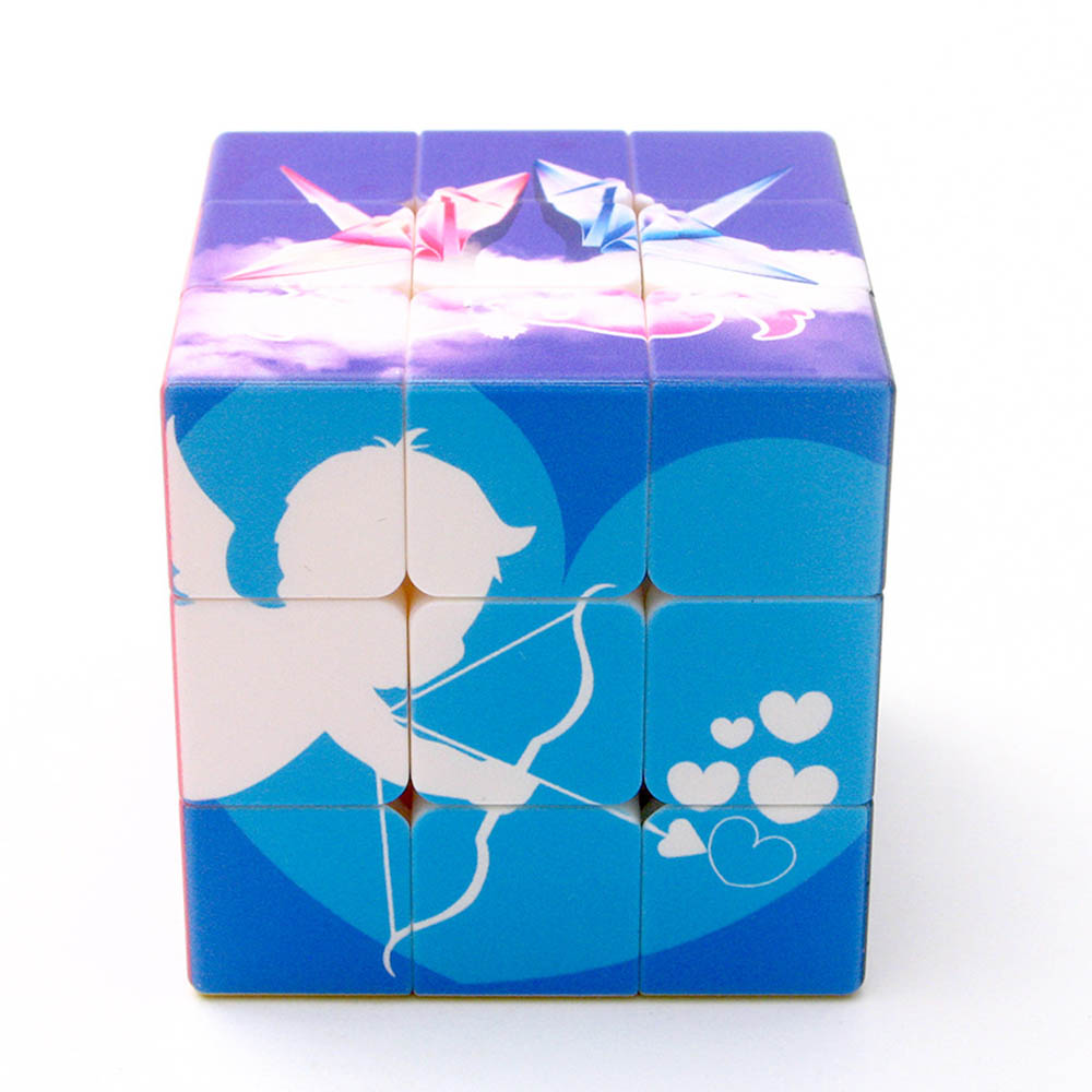 Yuxin Zhisheng Forever Love 3*3*3 Magic Cubes Puzzle Speed Competition Rubiks Cube Educational Toys Gifts for Kids Children