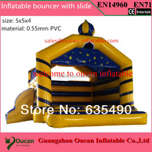 5x5x4m PVC tarpaulin inflatable bouncer/trampoline/jumper with blower