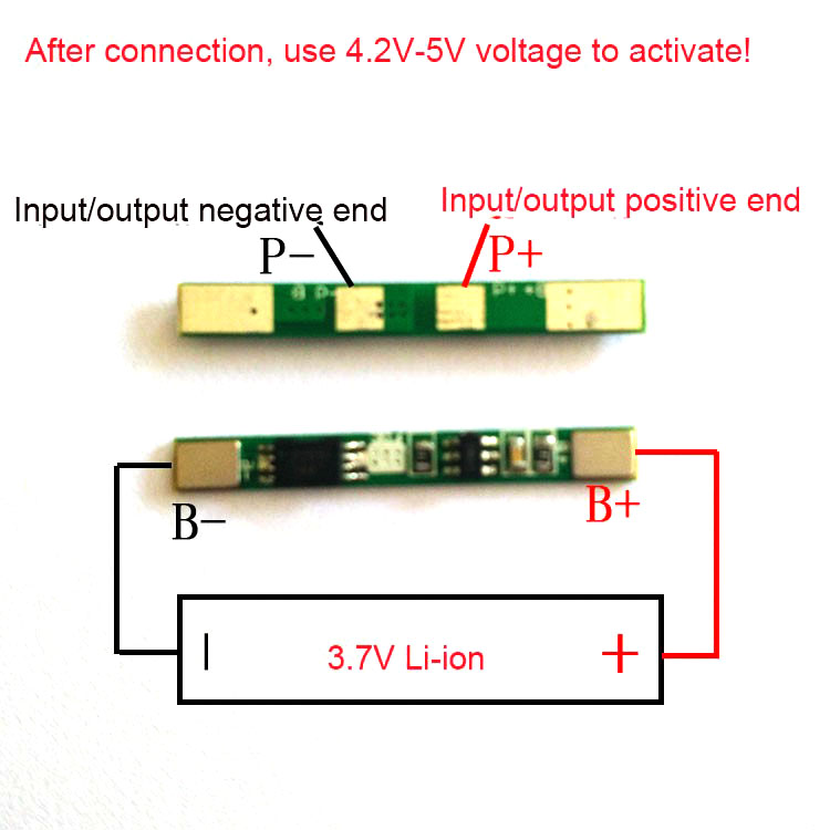 1S 3.7V 3A 18650 lithium li-ion BMS battery charger protection board Batterie