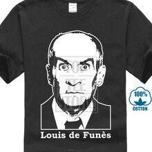 eb9af15050f8 Louis De Funes Film Kult Ikone Konterfei Stencil Art S Xxl T Shirt(China)