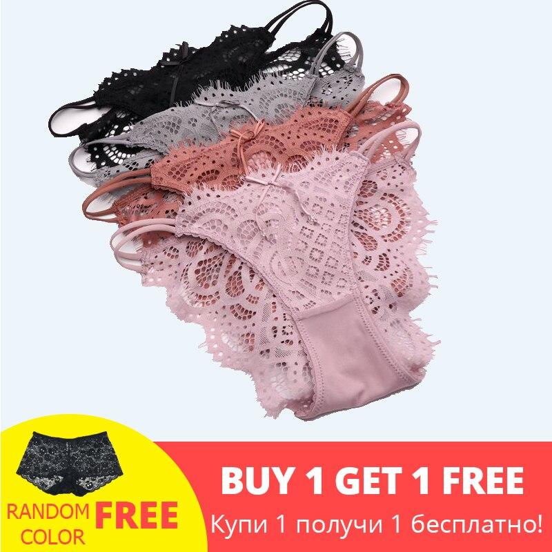 SP&CITY New Lace Transparent   Panties   Sex Women Sexy Hollow Out Underwear Female Lingerie String Thongs Crotch Cotton Briefs