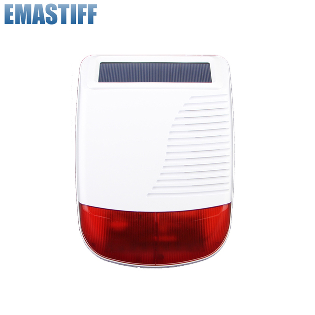 Free Shipping!new Wireless 868MHZ Outdoor Solar Powered Flash Siren Strobe for 7 inch GSM PSTN X6 APP Touch Panel