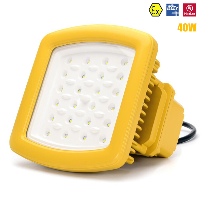 ATEX Explosion Proof Light 40W LED High Bay Lighting AC100V-277V UL DLC 40W LED Explosion Proof Flood Light