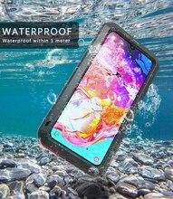 Чехол для Samsung Galaxy A70 LOVE MEI, ударопрочный водонепроницаемый металлический армированный чехол для телефона Samsung Galaxy A70