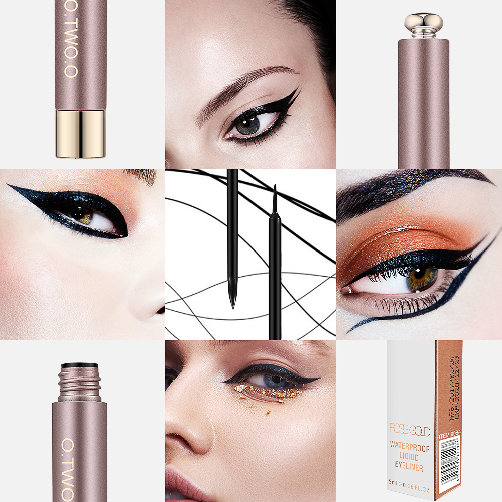 O. TWO.O Professionele Dunne Vloeibare Eyeliner Pen Silk Eye Liner - Make-up - Foto 3